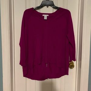 Gently used Design History sweater- Magenta
